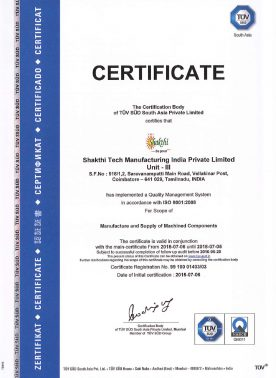 Unit III - ISO Certification